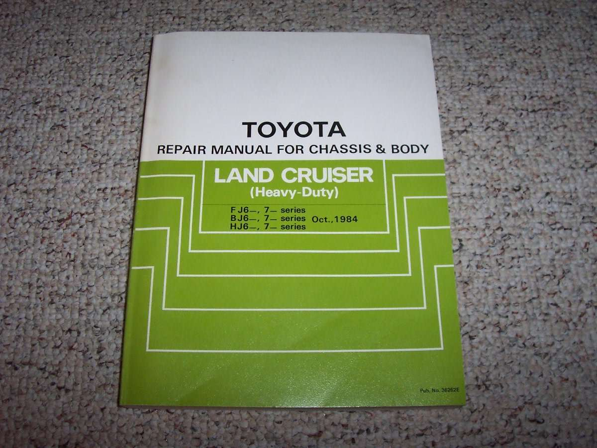 1985 Toyota Land Cruiser Chassis  U0026 Body Service Repair Manual