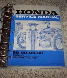 1990 honda pc800 pacific coast service manual. Black Bedroom Furniture Sets. Home Design Ideas