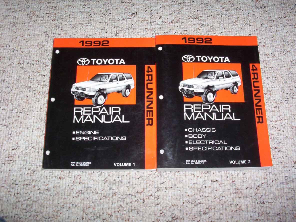 1990 Toyota 4runner Service Repair Manual