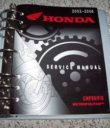 honda chf50 service manual pdf