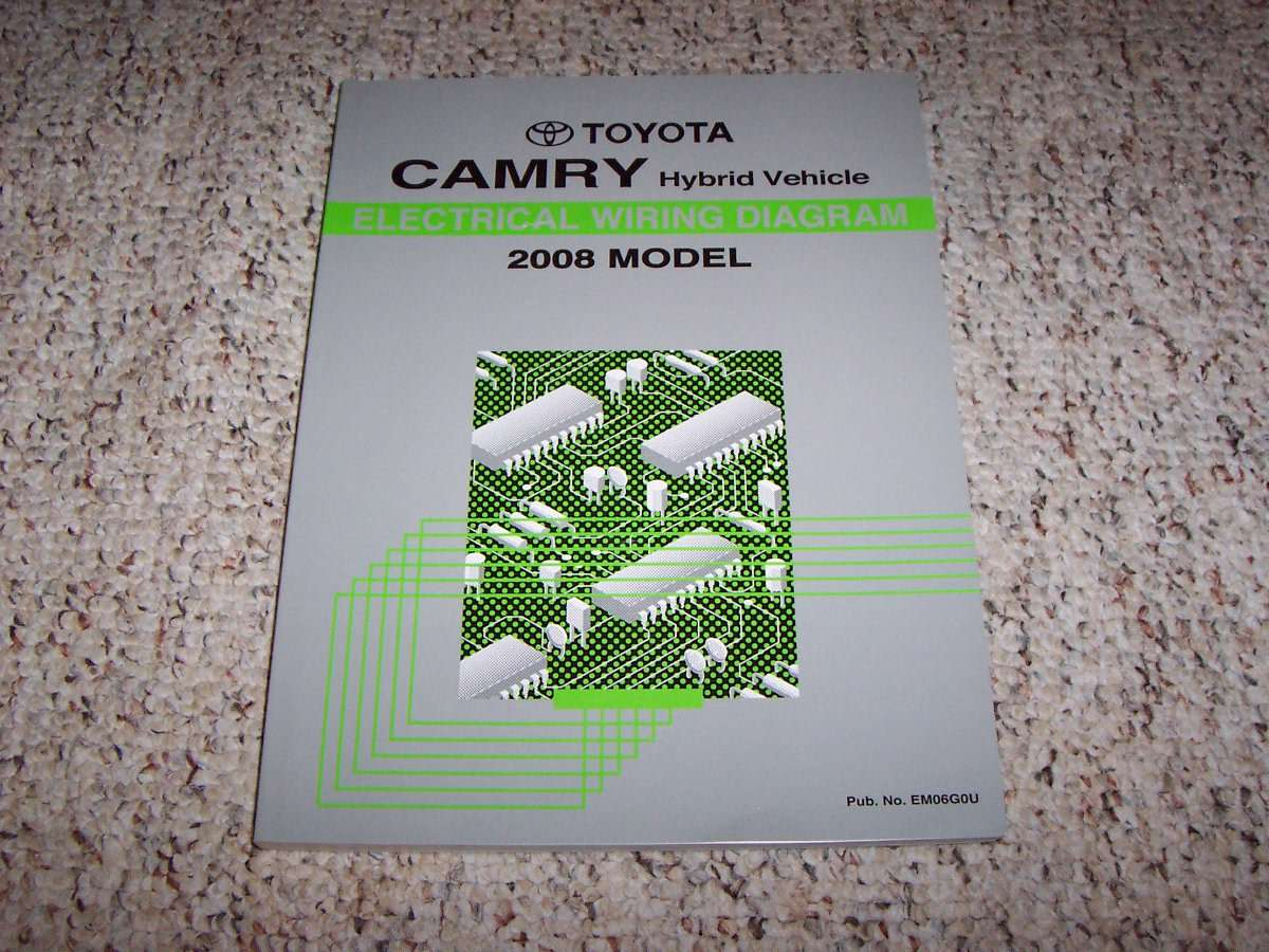 2008 Toyota Camry Hybrid Electrical Wiring Diagram Manual
