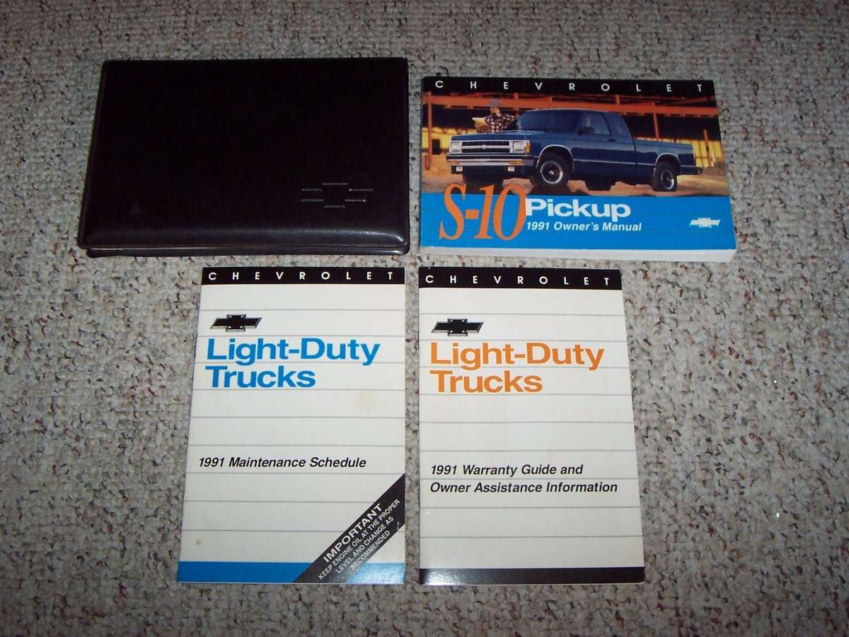 1991 Chevrolet S-10 Owner U0026 39 S Manual Set