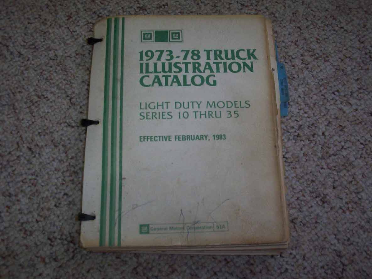 1977 Chevrolet Truck C10 C20 C30 K10 K20 K30 Parts Catalog