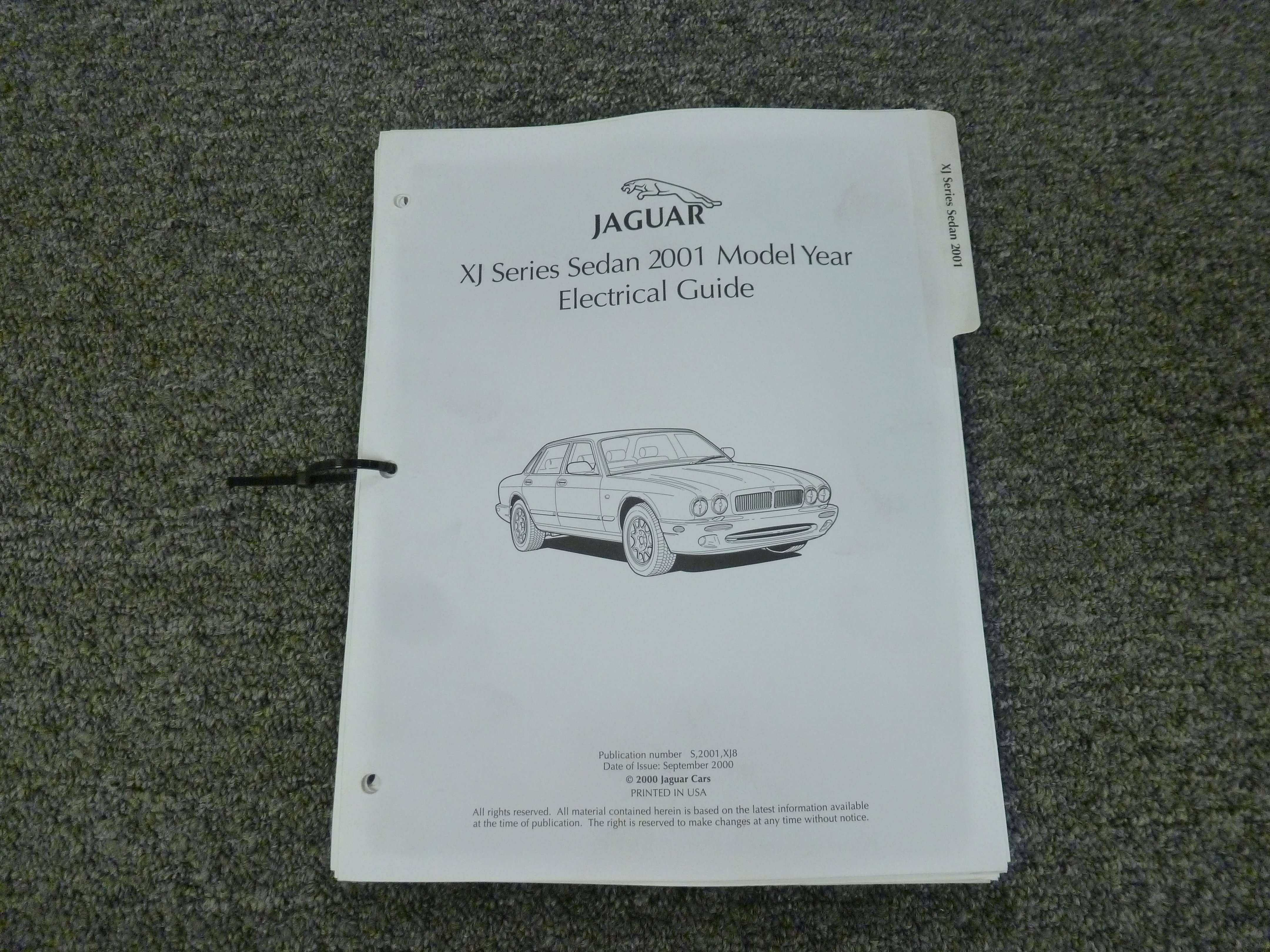 2001 Jaguar Xj8 Electrical Wiring Circuit Diagrams Manual