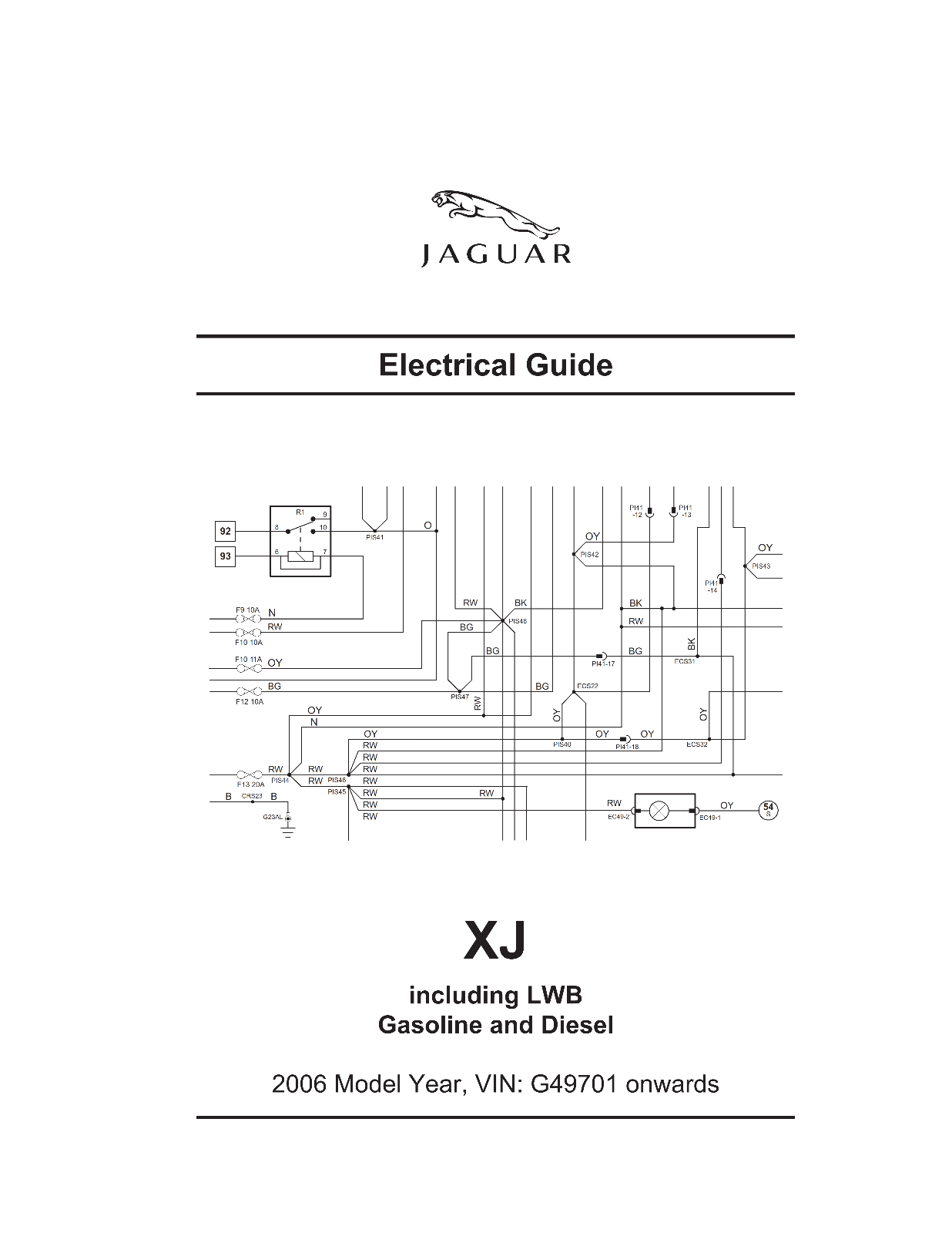 2006 Jaguar Xj8 Electrical Wiring Circuit Diagrams Manual