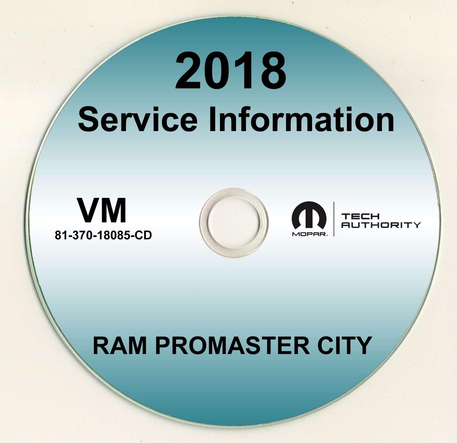 2018 Dodge Ram Promaster City Shop Service Repair Manual