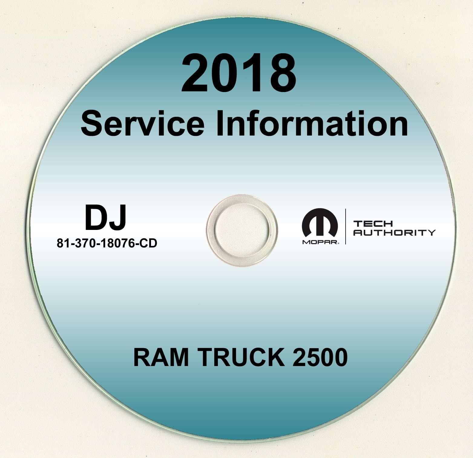 2018 Dodge Ram Truck 2500 Shop Service Repair Manual Cd