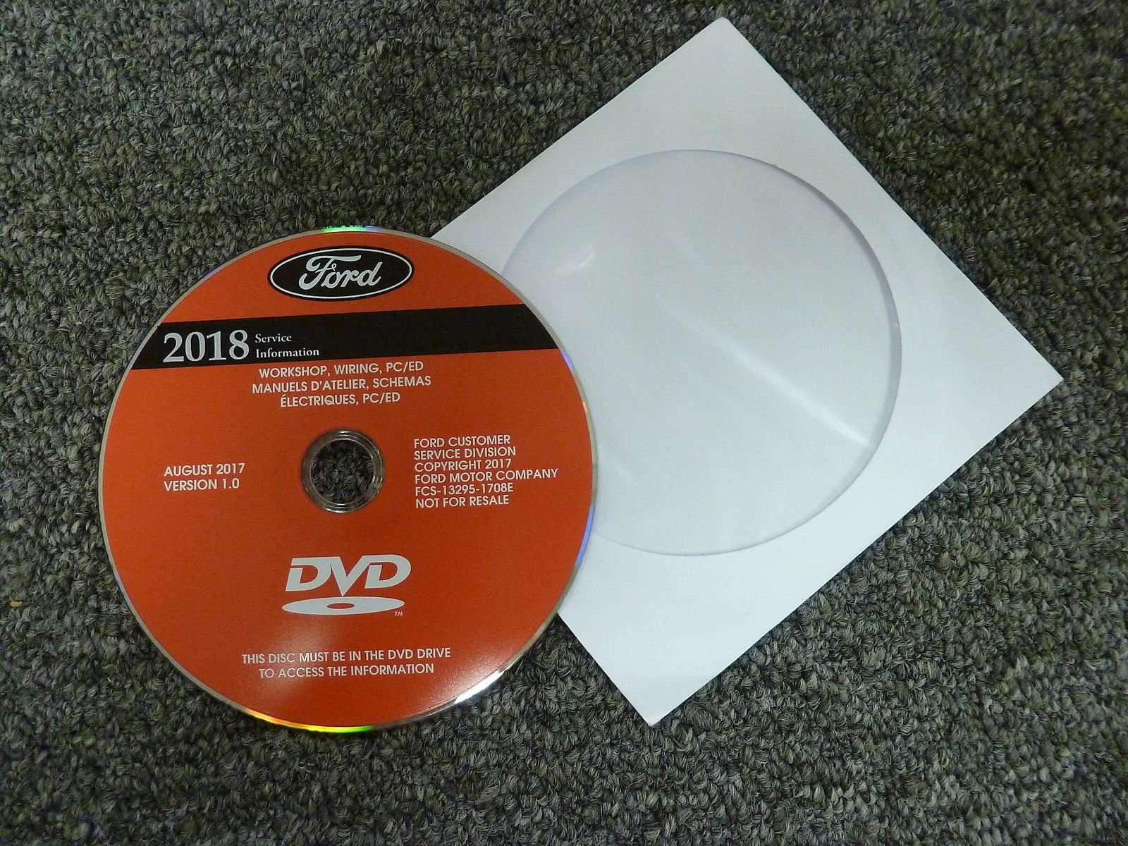2018 Ford Edge Service Manual Dvd