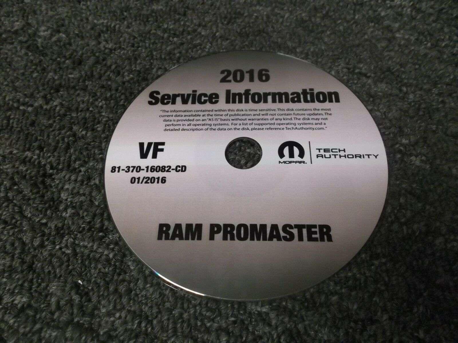 2016 Dodge Ram Promaster Shop Service Repair Manual Cd